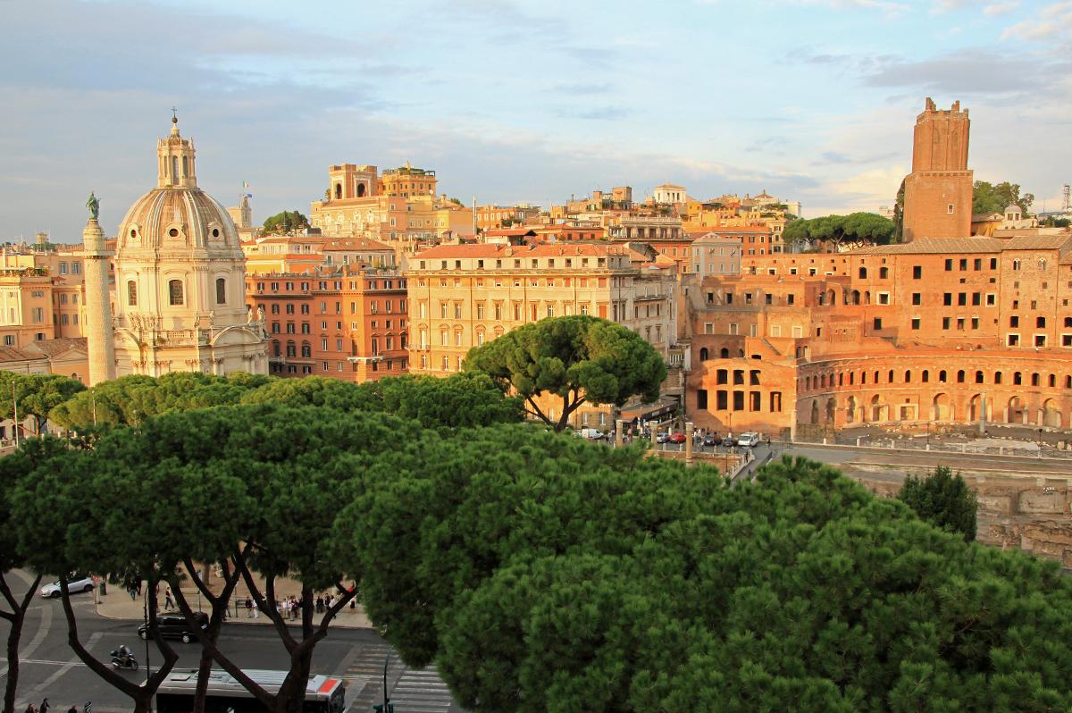 Rom  -  Pantheon, Petersdom und Paläste
